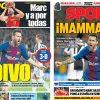 2017年9月13日(水)のバルセロナスポーツ紙:圧巻のメッシ、ユーベを打ちのめす