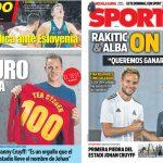 2017年9月15日(金)のバルセロナスポーツ紙:新ミニエスタディの起工式