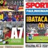 2017年9月21日(木)のバルセロナスポーツ紙:マドリーと勝点7差!