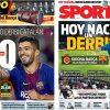 2017年9月23日(土)のバルセロナスポーツ紙:初!ジローナ対バルサ