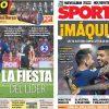 2017年9月24日(日)のバルセロナスポーツ紙:カタルーニャ対決を制したバルサが6連勝