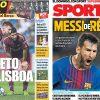 2017年9月27日(水)のバルセロナスポーツ紙:リスボンで目指す8連勝