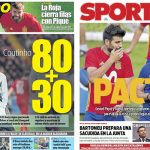 2017年10月04日(水)のバルセロナスポーツ紙:カタルーニャ独立投票の余波