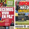 2017年10月06日(金)のバルセロナスポーツ紙:イニエスタが沈黙を破る