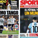 2017年10月10日(火)のバルセロナスポーツ紙:運命の時迫る、メッシのアルゼンチン