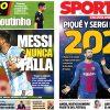 2017年10月11日(水)のバルセロナスポーツ紙:メッシ神