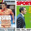 2017年10月20日(金)のバルセロナスポーツ紙:コウチーニョとボス・バルベルデ