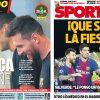 2017年10月21日(土)のバルセロナスポーツ紙:マラガにも勝つぞ!