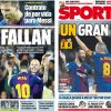 2017年10月22日(日)のバルセロナスポーツ紙:首位チームは、しくじらない