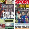 2017年10月23日(月)のバルセロナスポーツ紙:THE BESTはバルサ