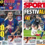 2017年11月05日(日)のバルセロナスポーツ紙:英雄パコ!