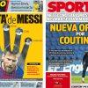 2017年11月09日(木)のバルセロナスポーツ紙:メッシとコウチーニョ