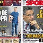 2017年11月24日(金)のバルセロナスポーツ紙:鉄壁テル・ステーゲン