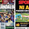 2017年11月27日(月)のバルセロナスポーツ紙:あれをノーゴールにしますか