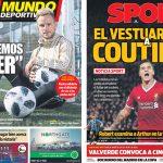 2017年11月29日(水)のバルセロナスポーツ紙:ラキティッチとコウチーニョ