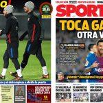 2017年12月10日(日)のバルセロナスポーツ紙:必勝のビジャレアル戦