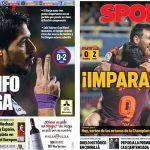 2017年12月11日(月)のバルセロナスポーツ紙:ラ・セラミカでの大きな勝利