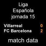 マッチデータ|リーガ第15節 ビジャレアル 0-2 バルサ