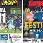 2017年12月18日(月)のバルセロナスポーツ紙:マドリーに+11でクラシコへ!