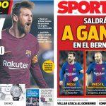 2017年12月19日(火)のバルセロナスポーツ紙:「マドリーで勝てればステキ」