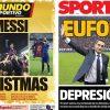 2017年12月25日(月)のバルセロナスポーツ紙:エル・クラシコ勝利の余韻に浸るクリスマス