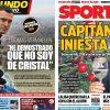 2017年12月31日(日)のバルセロナスポーツ紙:大晦日の表紙はベルマーレンとイニエスタ
