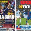 2018年1月05日(金)のバルセロナスポーツ紙:デンベレ復帰