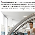 コウチーニョ、20日間の離脱:バルサデビューは1月末に