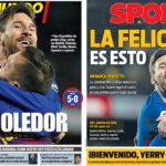 2018年1月12日(金)のバルセロナスポーツ紙:セルタを粉砕し、コパ準々決勝へ!