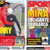 2018年1月13日(土)のバルセロナスポーツ紙:巨人ミナがやって来た