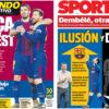 2018年1月16日(火)のバルセロナスポーツ紙:期待高まるバルセロニズモ