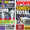 2018年1月25日(木)のバルセロナスポーツ紙:マドリーのコパが終わる
