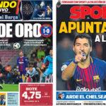 2018年2月02日(金)のバルセロナスポーツ紙:価値あるスアレス弾でまず先勝