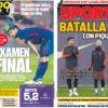 2018年2月08日(木)のバルセロナスポーツ紙:メスタージャでの最終試験