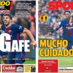 2018年2月12日(月)のバルセロナスポーツ紙:7ポイント差に近づくアトレティコ