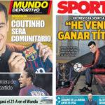2018年2月13日(火)のバルセロナスポーツ紙:コウチーニョインタビュー
