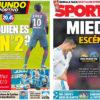 2018年2月14日(水)のバルセロナスポーツ紙:白組 vs PSG