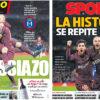 2018年2月21日(水)のバルセロナスポーツ紙:イニエスタ×メッシで同点弾!