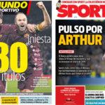 2018年2月22日(木)のバルセロナスポーツ紙:アルトゥール獲得に横やり?