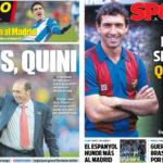 2018年2月28日(水)のバルセロナスポーツ紙:キニよ、永遠に