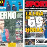 2018年3月01日(木)のバルセロナスポーツ紙:キニとの別れとラス・パルマス戦
