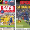 2018年3月05日(月)のバルセロナスポーツ紙:メッシ弾でアトレティコに勝利