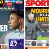 2018年3月09日(金)のバルセロナスポーツ紙:ネイマールとウンティティ