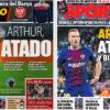 2018年3月12日(月)のバルセロナスポーツ紙:アルトゥール確保