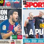 2018年3月13日(火)のバルセロナスポーツ紙:チェルシー戦まであと1日