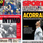 2018年3月20日(火)のバルセロナスポーツ紙:メッシの内的分析とCR7の脱税