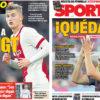 2018年3月21日(水)のバルセロナスポーツ紙:デ・リフトとイニエスタ