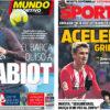 2018年3月22日(木)のバルセロナスポーツ紙:ウワサ話とイニエスタ