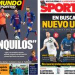 2018年3月29日(木)のバルセロナスポーツ紙:FIFAウイルスとウンティティの後釜