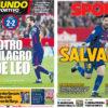 2018年4月01日(日)のバルセロナスポーツ紙:メッシ様々の勝点1